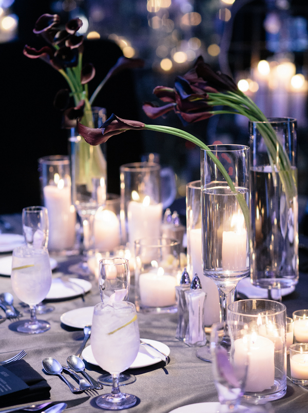 fabulous black and grey tablescape