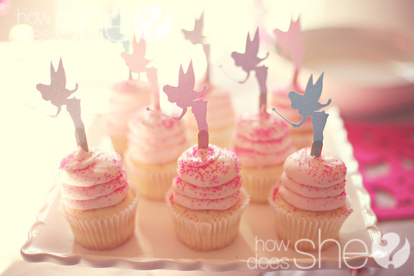 fairy birthday party cupcakes