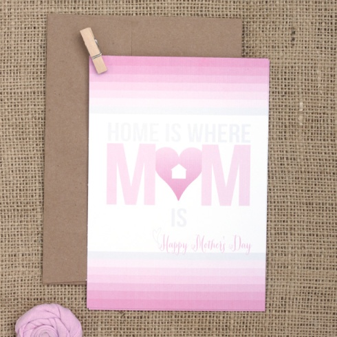 Free Ombre Happy Mother's Day Card