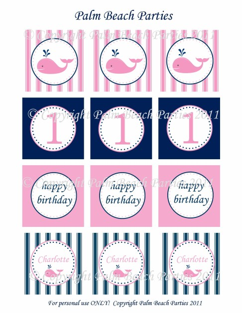 free printables for a girl nautical party