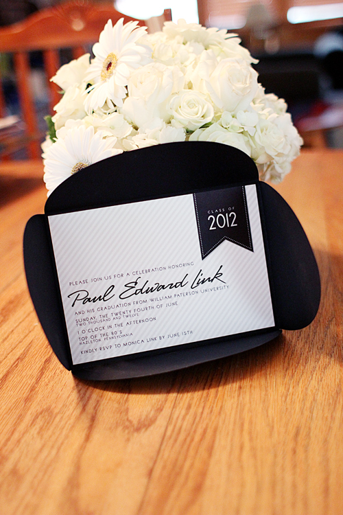 Black And White Graduation Ideas B Lovely Events – Black and White Themed Party Invitations