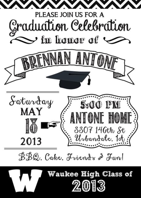 Black And White Graduation Ideas B Lovely Events – Black and White Party Theme Invitations