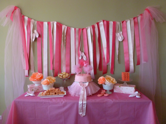 little girls ballerina party decoration ideas