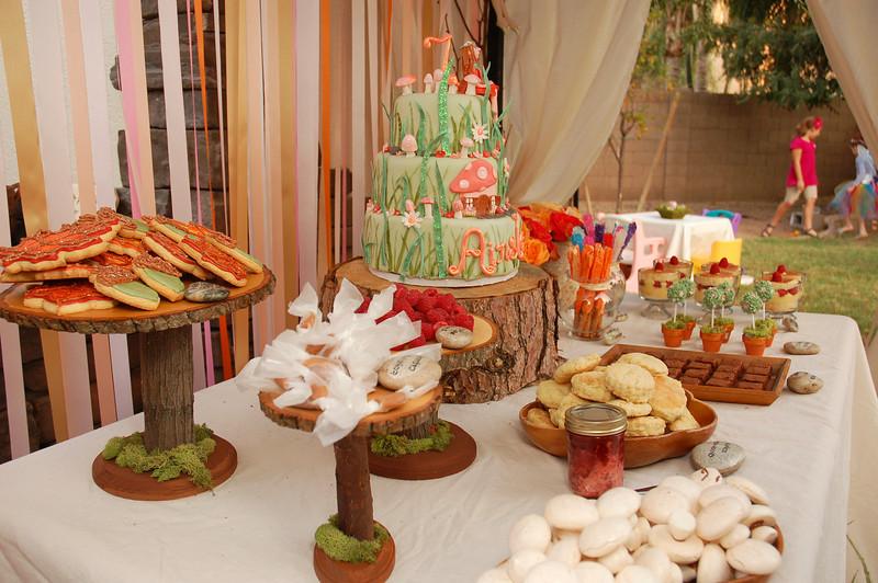 little girls fairy birthday party desser bar