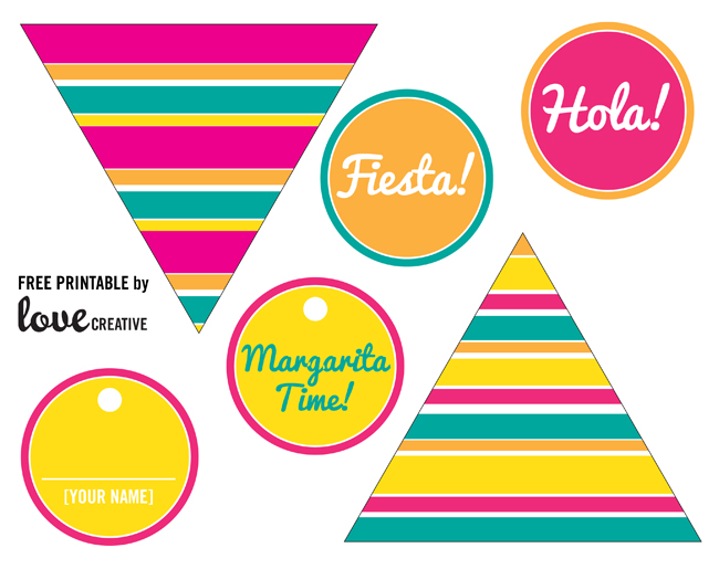 Modern and colorful Cinco de Mayo free printables
