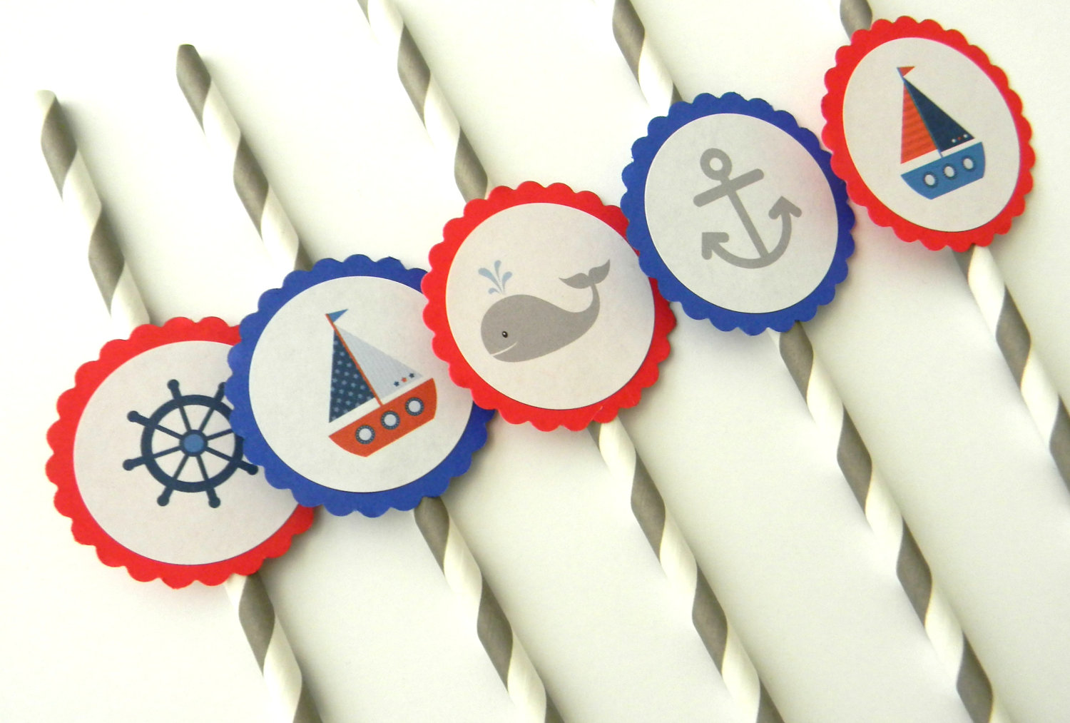Nautical straws for nautical party
