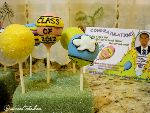 oh the places you'll go grad cake pops