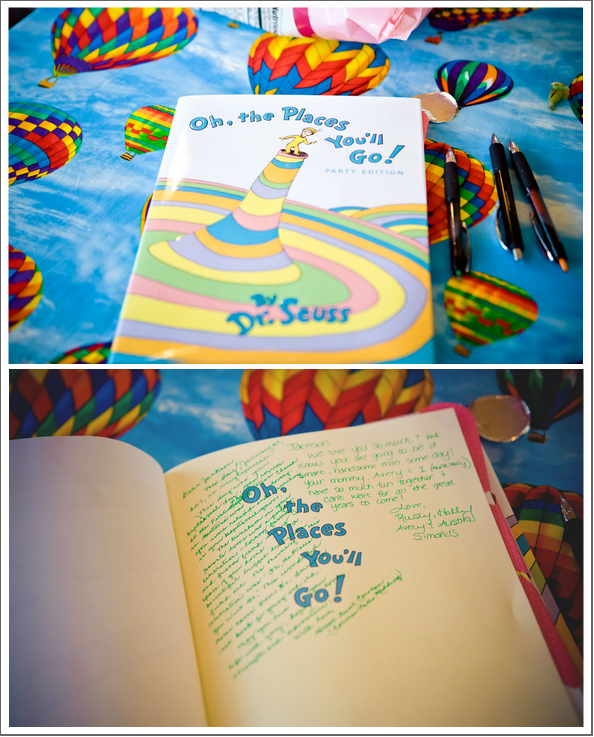 oh the places you'll go guest book