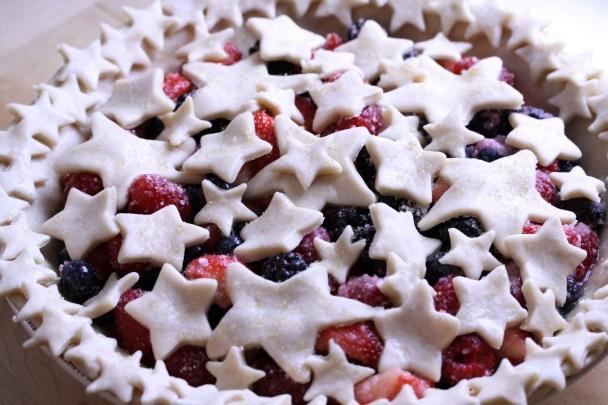 DIY Berry Patriotic Stars pie