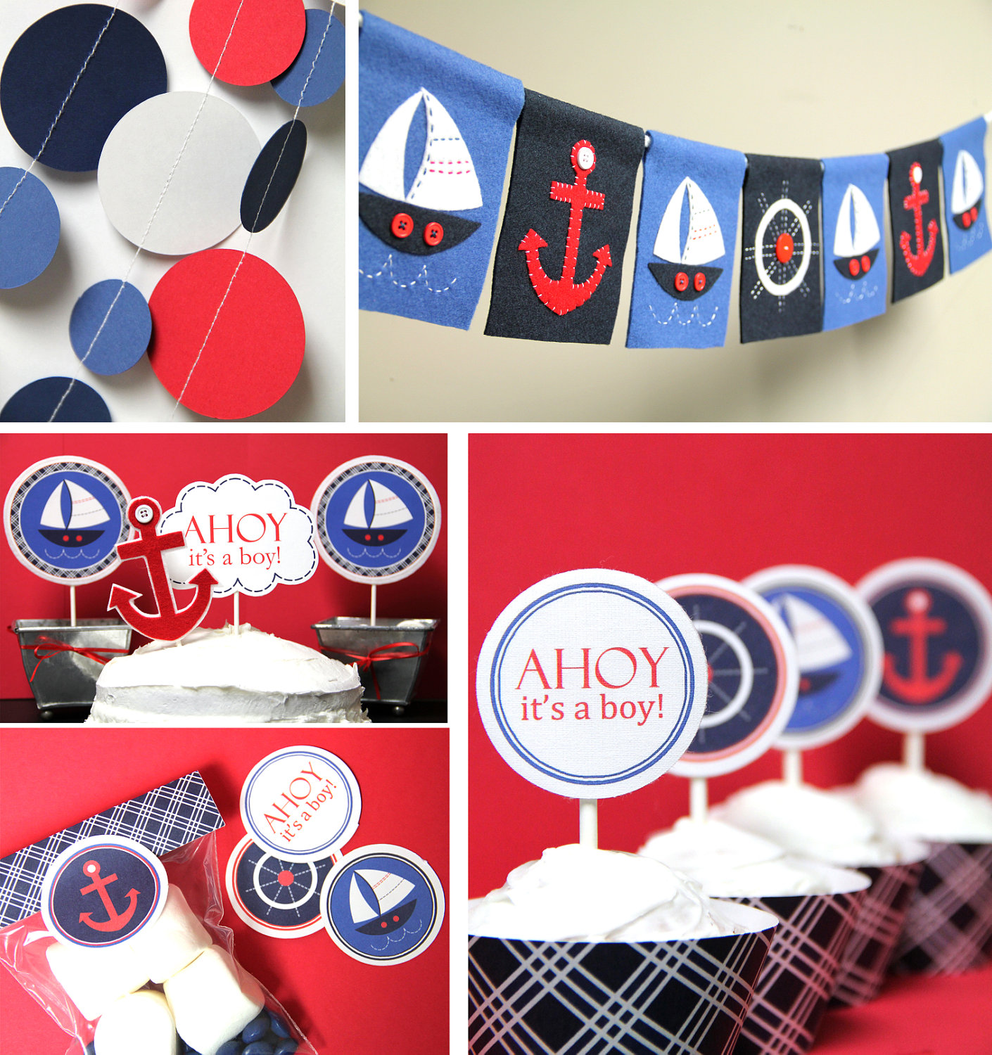 Lovely Nautical Boys Party Is For A Baby Shower From Taffie Wishes. Doo ...