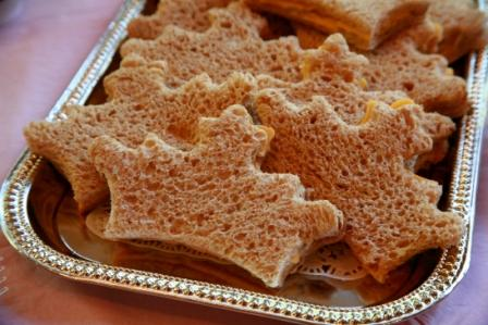 princess crown sandwich for a princess party