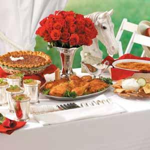 Roses in Trophies for Kentucky Derby Decor