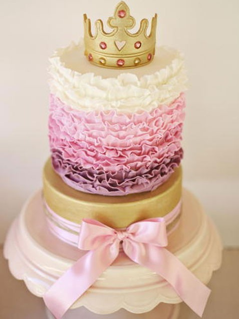 Ruffle Crown Cake  for princess party
