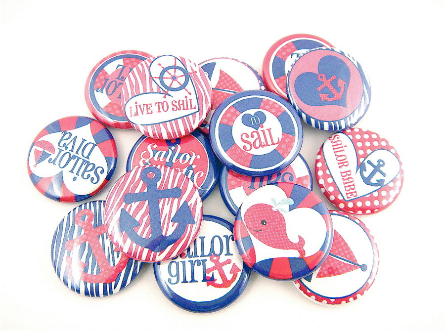 sailor buttons for girls nautical party