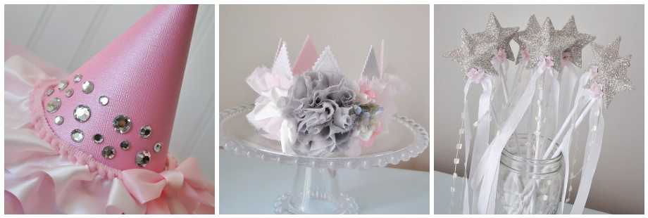 seriously lovely princess party decorations and hats