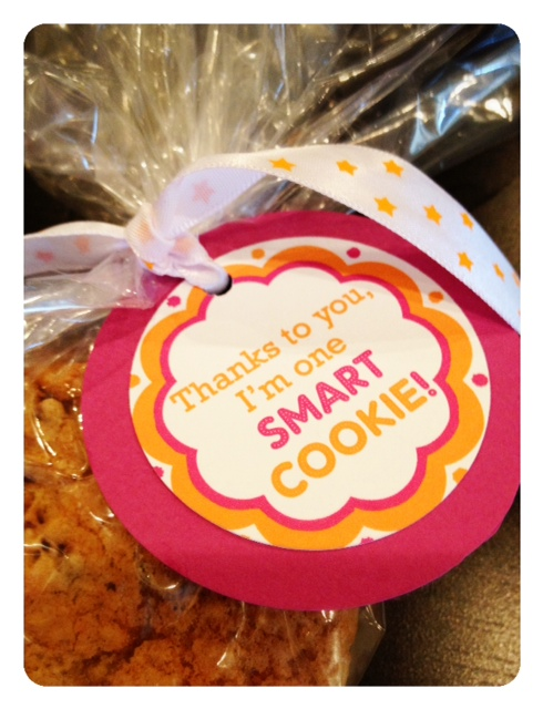 Smart cookie favors for grad party