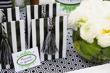favors are graduation party with tassels