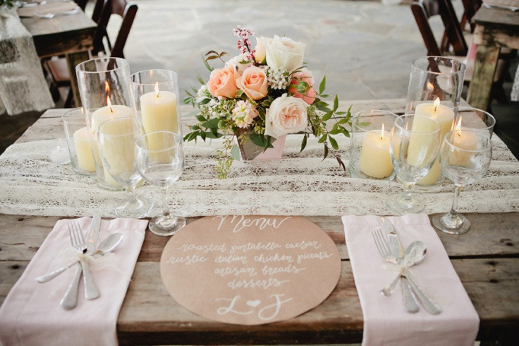 Vintage Shabby chic beautiful tablescape