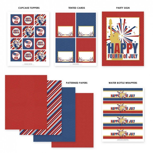 4th of July Free printables for your party