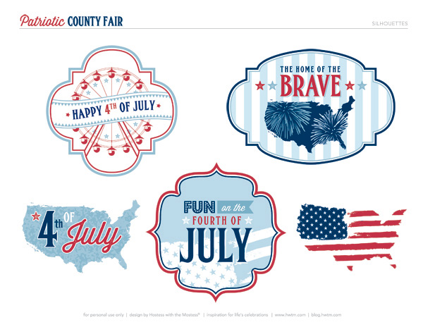 4th of July Free printables via HWTM!