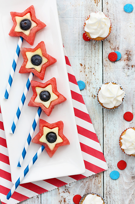 4th of July Star Fruit pops