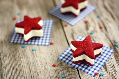 4th of July star ice cream sandwiches