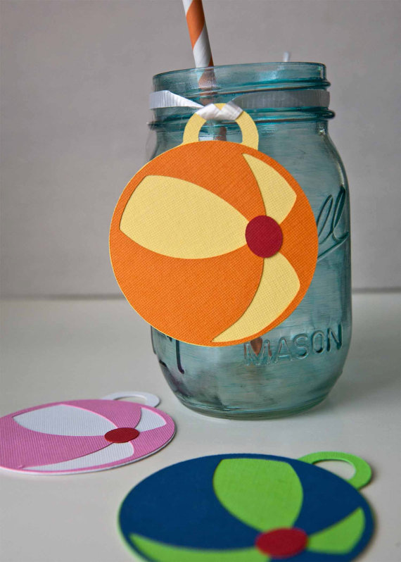 beach ball drink tags