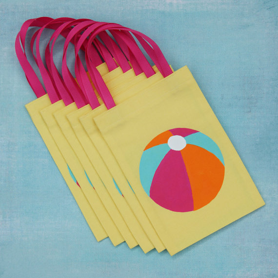 beach ball party bags