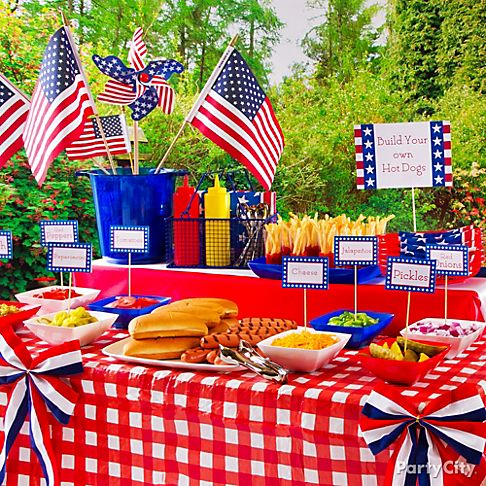 Build your own hot dog bar for summer bbq
