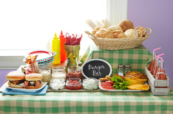burger-bar ideas for summer bbq