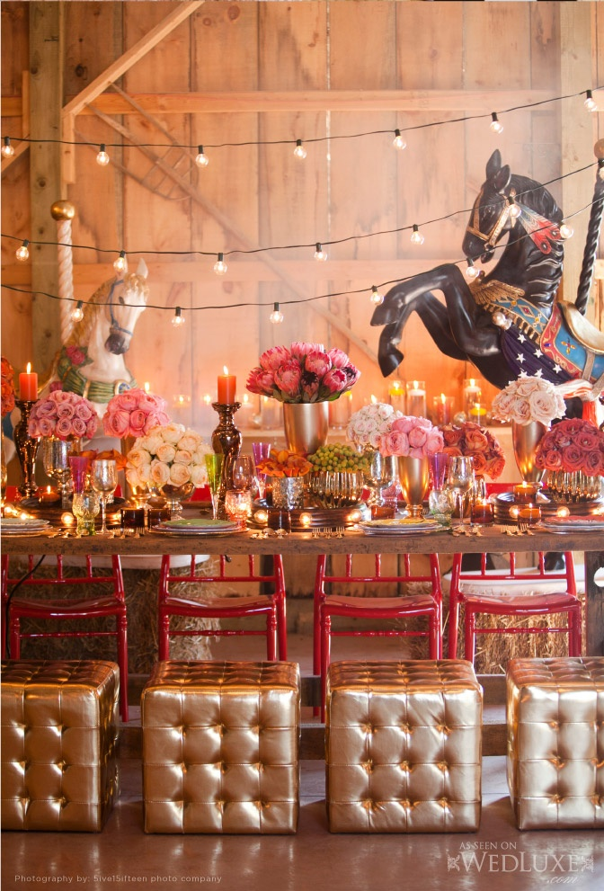 circus vintage  inspiring tablescape!