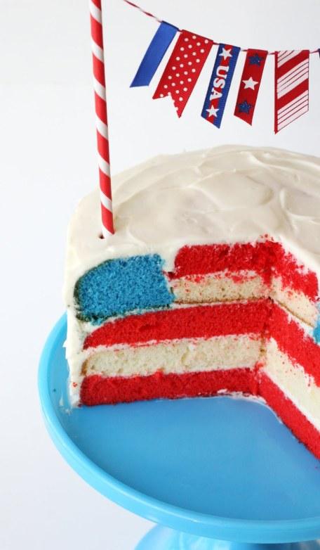 Cute as a button DIY american flag cake