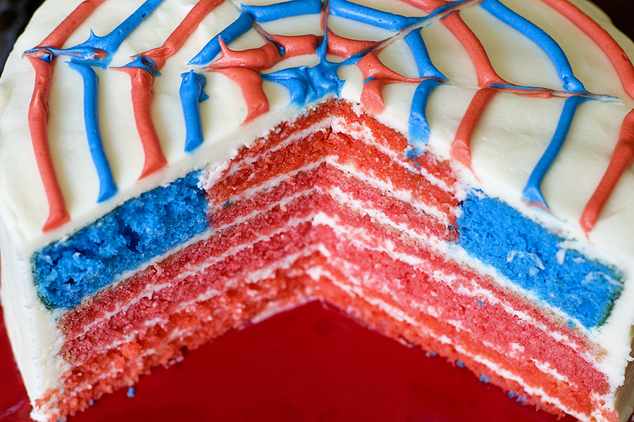 DIY American Flag cake for 4th of July