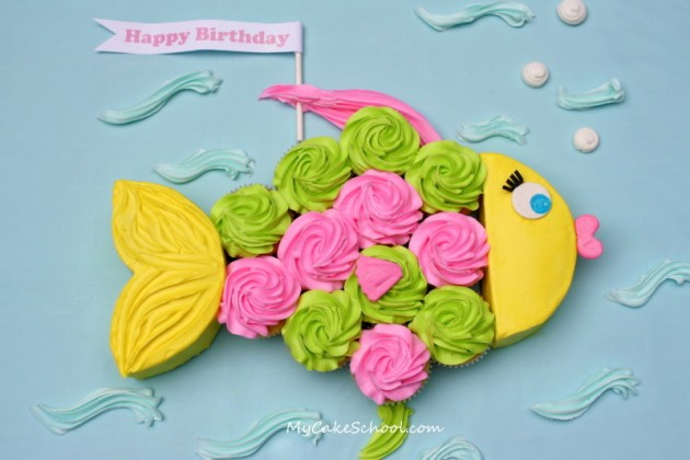 DIY Fishy Cake- Amazing for a pool or beach party