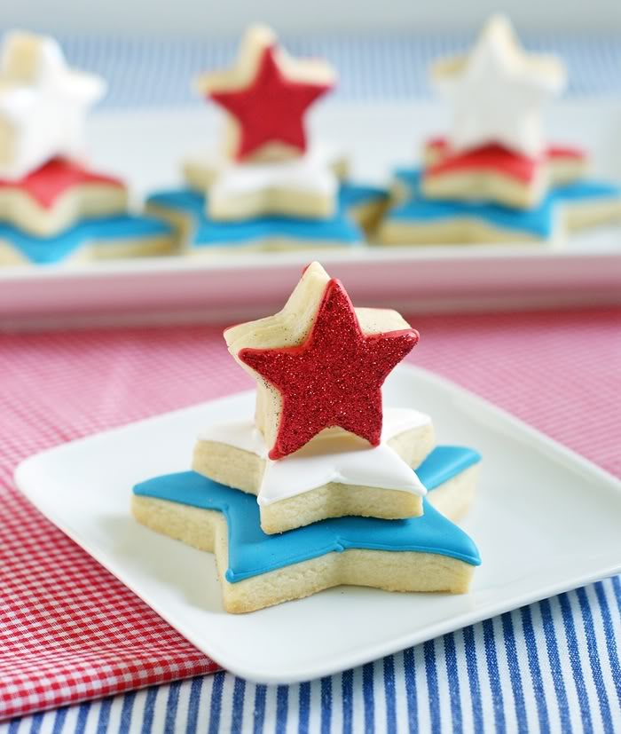 DIY Star Cookies for 4th of July