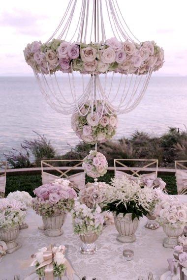 Elegant Vintage tablescape with abundant roses