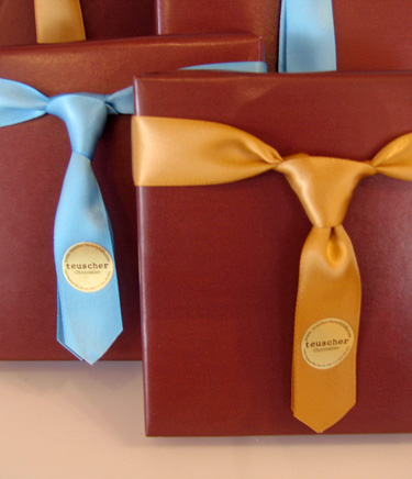 fathers day gifts with DIY ribbon tie