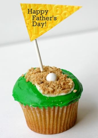 Fathers day Golf cupcake