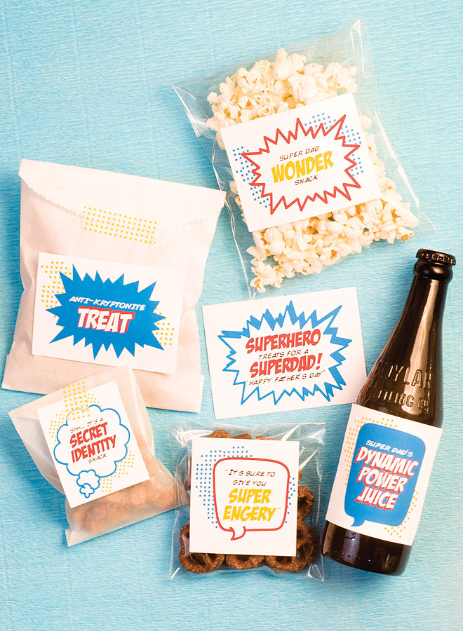 Father's Day Superdad treats via pizzazzerie {free printables!}