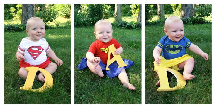 Father's Day superhero baby card ideas-adorable!
