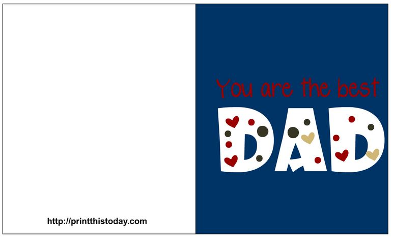 Free fathers day card for the best dad