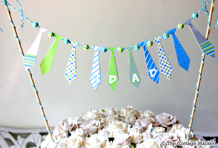 Free Fathers Day DIY Tie Printables-love this bunting!
