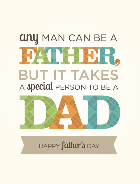 Free Father's Day wall art card