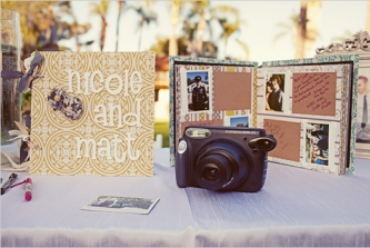 fun and fresh wedding photo guestbook