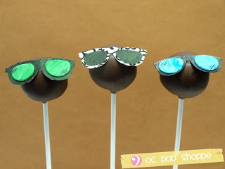 fun sunglasses cake pops
