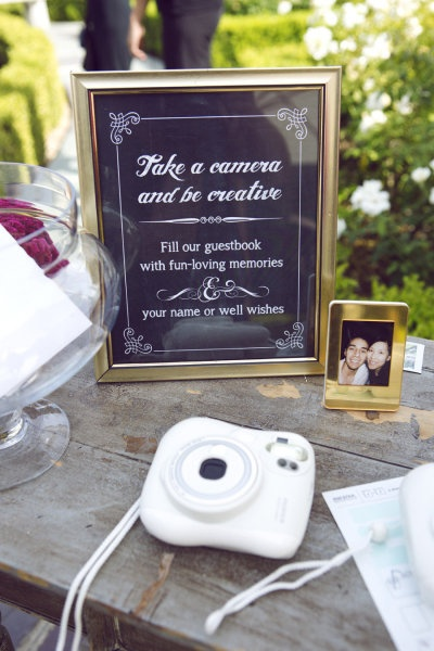 fun wedding poloroid guestbook
