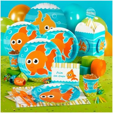 Goldfish fishy party-lovely for a pool and beach party