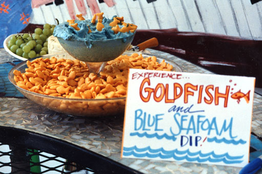 Goldfish party dip-lovely for a pool and beach party!