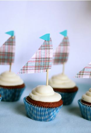 nautical sailboat cupcakes