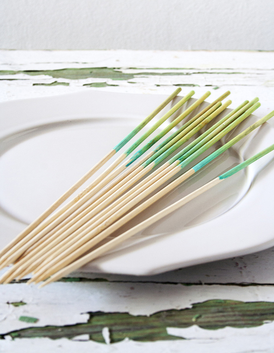 DIY ombre skewers for BBQ